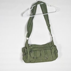 Travelon olive green adjustable bag purse